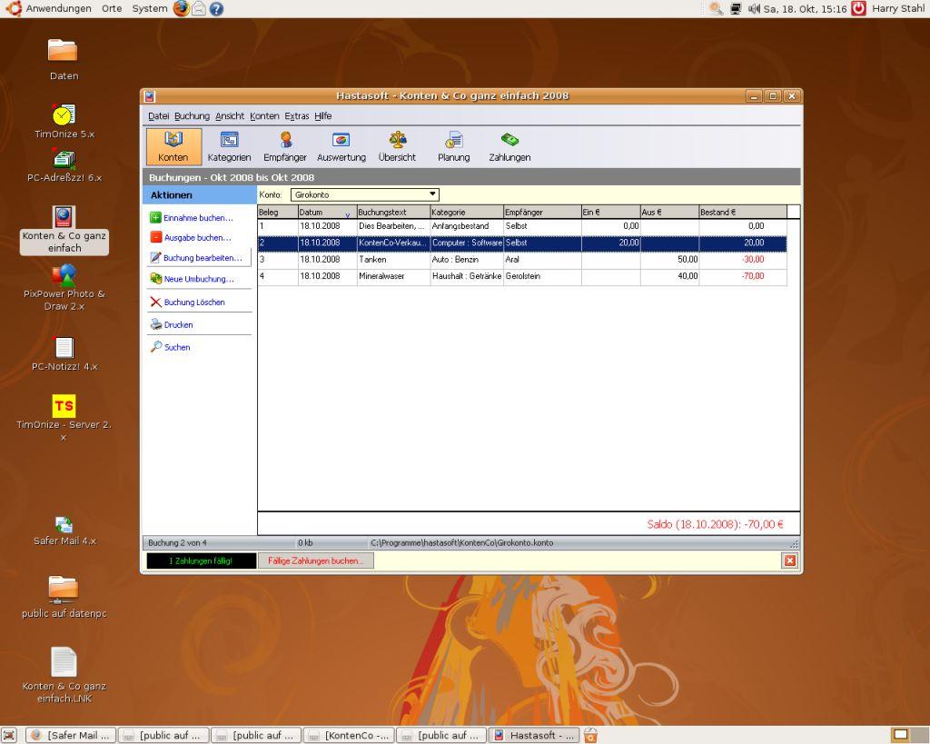 Hastasoft konten co unter ubuntu